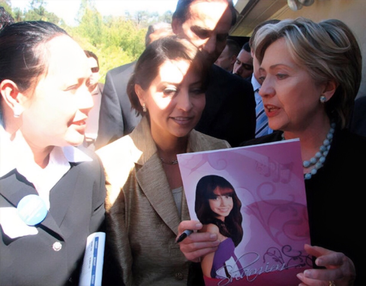 Eleanor N. Bulatao and Hilary Clinton
